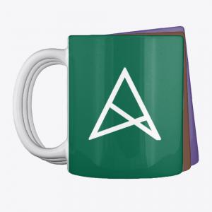 Разноцветная кружка с фоном и логотипом ALStrive