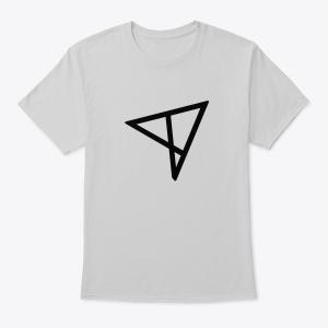 Серая/Черная/Белая футболка с логотипом ALSTRIVE