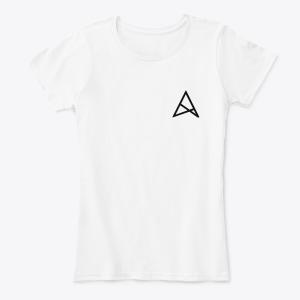 Женская Серая/Черная/Белая футболка с логотипом ALSTRIVE